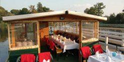 Pontonboot Wasserkremser mieten bei Bootsvermietung & Bootsverleih Berlin