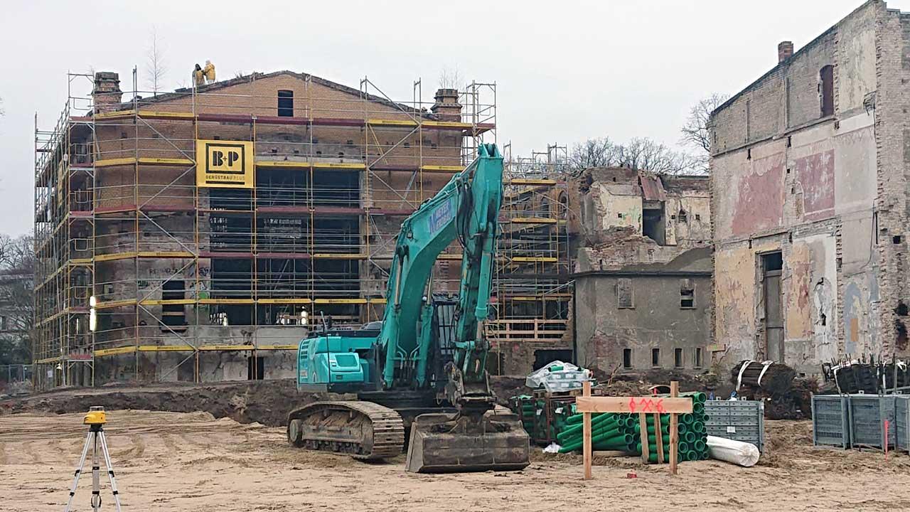 Riviera Grünau - Baustelle Anfang Januar 2020