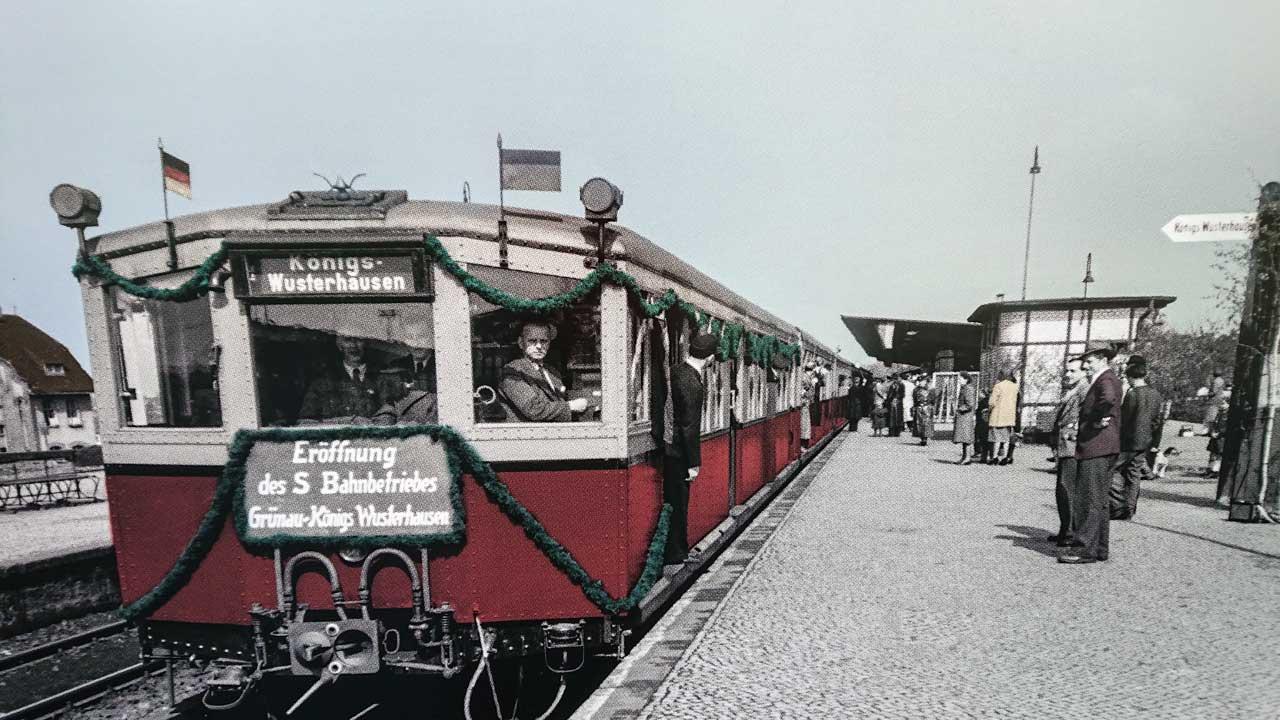 S-Bahnhof Berlin Grünau - Historische Ansicht