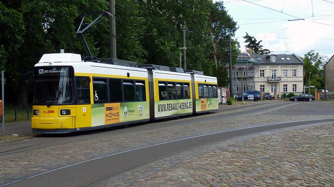 Uferbahn Straßenbahn Endhaltestelle in Alt-Schmöckwitz